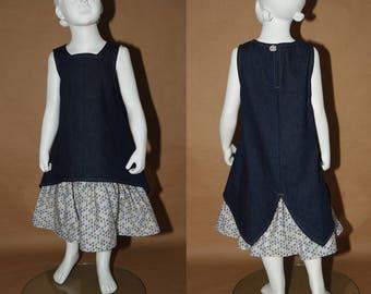 What if... Dress winter denim, cotton petticoat