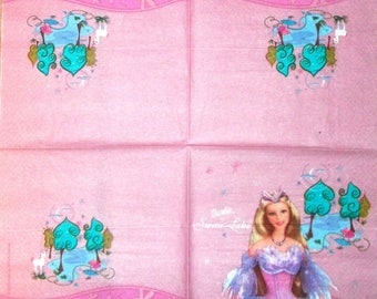 Serviette en papier  193 Barbie of the swan lake
