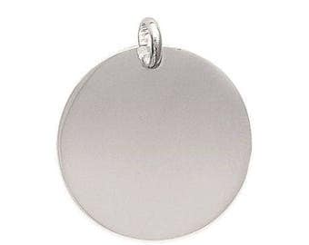 Customize pendant medal 27 mm engraved sterling silver