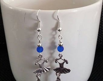 """Ballerina dress"" earrings 5 cm"