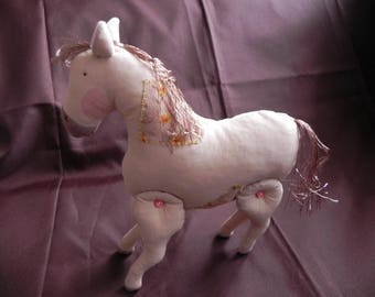 Horse 2 jointed legs beige Tone