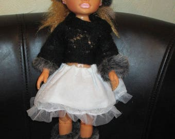 CAP, sweater, skirt and boots complete Nancy doll clothes