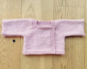 Pink overcoat size premature baby girl