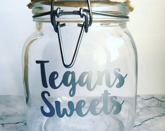 Personalised Jar, Sweet Jar, Personalised Gifts, Childrens Gifts, Add Your Own, Jar Quote, Customisation, Childrens Birthday, Kids Christmas