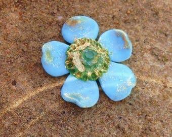 Blue flower cabochon * Stardust * N ° 1