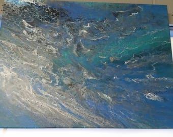24 x 18 Fluid Abstract