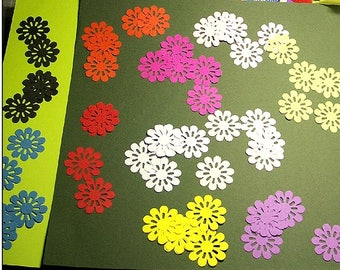 Perforated 3-d cutouts 'Flower' (die cuts)