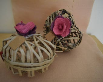 Heart box with fabric paper roses
