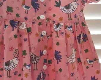 Birdie dress and panties