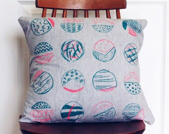Hand Screen Printed Cushion
