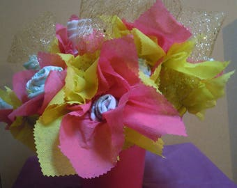 Bouquet of roses - cake layers-