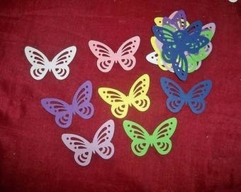 SCRAPBOOKING Punch Butterfly color choice 4-5 cm