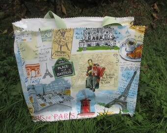 shopping bag or purse quilted picnic Paris and its monuments, fathers day gift