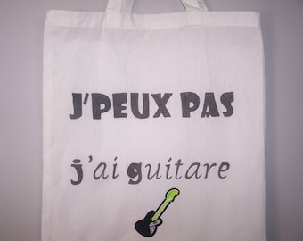 Cotton tote bag white with text humor, accessory