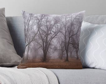 Foggy Forest Pillow Cover