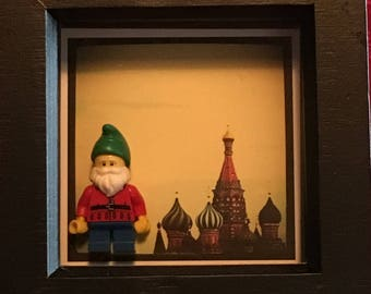 Framed Lego Minifigure - Series 4 - Lawn Gnome