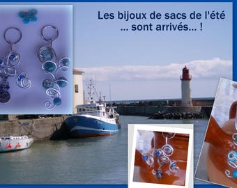 SET of 2 handbag blue like the OCEAN!