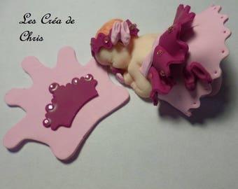 baby girl pretty Princess polymer clay.