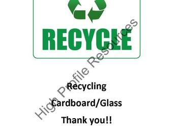 Recycling Bin Label