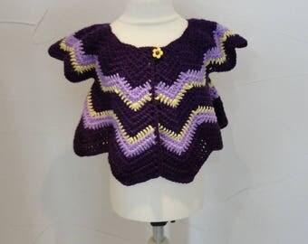 Butterfly or petal crocheted vest