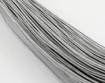 Thread - waxed cotton - 1 mm - grey - x10M