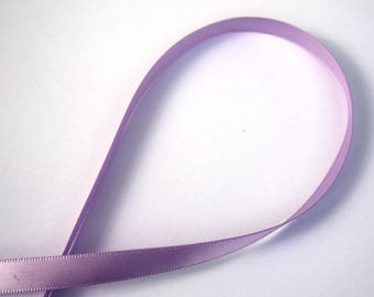 The meter 9 mm wide purple satin ribbon