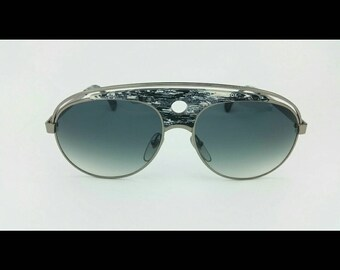 alain mikli vintage pilot men sun glasses, unworn aviator shape, Lenny Kravitz wore a Mikli 633, Expensive Mazzuchelli plate, NOS