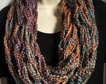 Hand Knit Double Loop Infinity Scarves 6-10