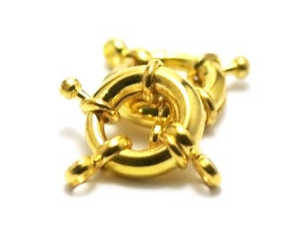 10 lobster buoys, 15 mm, gold