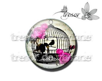 PA449 cabochons glass manual Retro, Cages, birds, Lolita