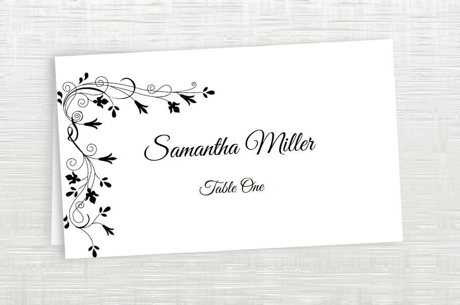 template for printing place cards