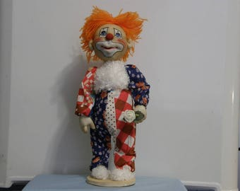 Clown with rose