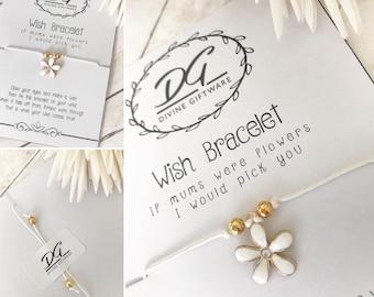 If Mums Were Flowers Wish Bracelet J15