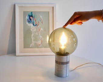 Vintage glass ball lamp