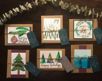 Handmade Holiday Card Set