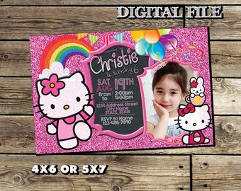 Hello kitty birthday etsy hello kitty invitationhello kitty birthday invitationhello kitty birthdayhello kitty party stopboris Image collections