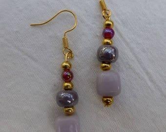 Harmony purple and gold earrings