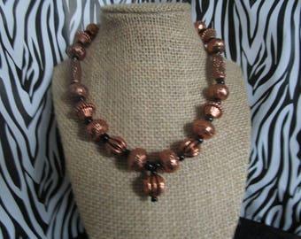 Rose Gold & Black Necklace