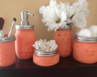 Bathroom Ball Mason Jar Set