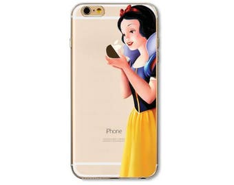 Disney SNOW WHITE iPhone 8 7 6s 6 Plus Case Disney Snow White iPhone Case Apple Pattern Best Friend Gift For Her Clear Silicone Case