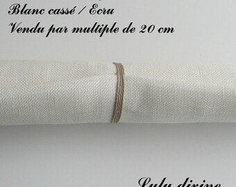 Linen embroidery 12 threads/cm, off white / Ecru