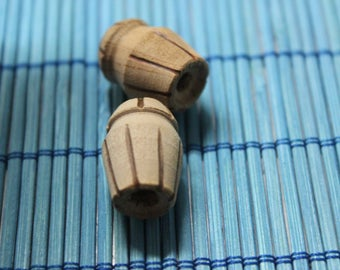 handcrafted coconut wood beads for jewelry making