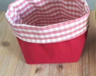 empty basket red white Aura Pocket