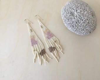 Coral   Handmade beaded earrings