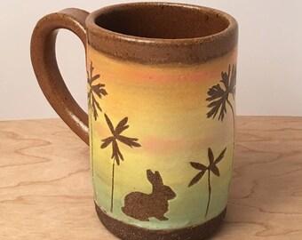Sunset Bunny Mug