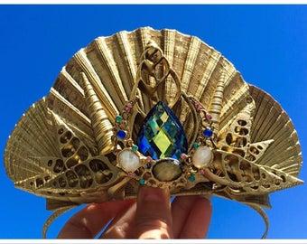 Mermaid Crown - Ocean Princess - seashell tiara