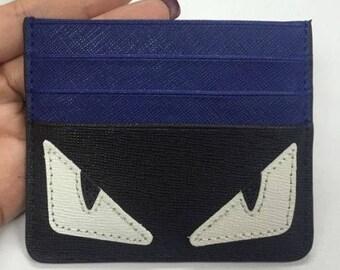 Fendi style Cardholder wallet organizer custom made Monster Eyes Unbranded