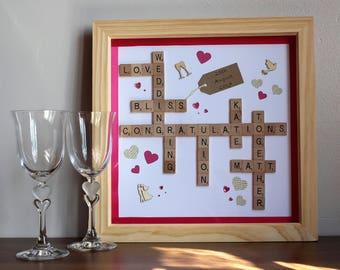 Personalised Wedding Scrabble Frame