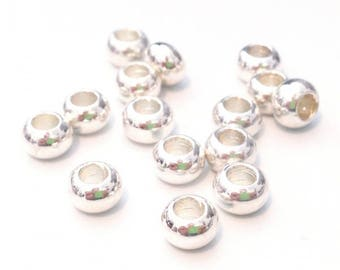X 20 metal beads spacer rondelle 6x3mm