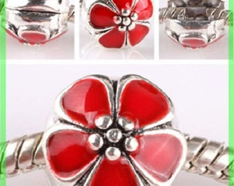 Pearl N630 clip stopper European blocker rhinestones for charms bracelet